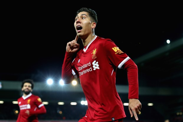 Firmino strikes twice as Liverpool crush Swansea